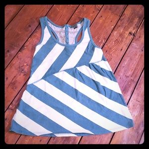 Roxy Racerback Striped Tabk